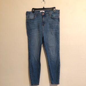 F21 high waisted skinny jeans